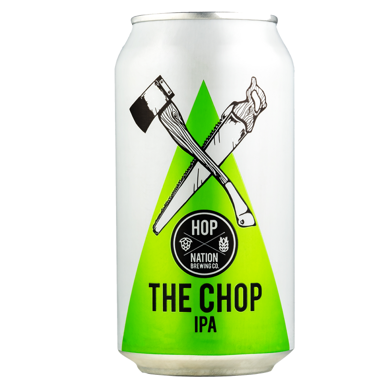 Hop Nation Brewing Co-The Chop IPA 375ml x 4 cans-Pubble Alcohol Delivery