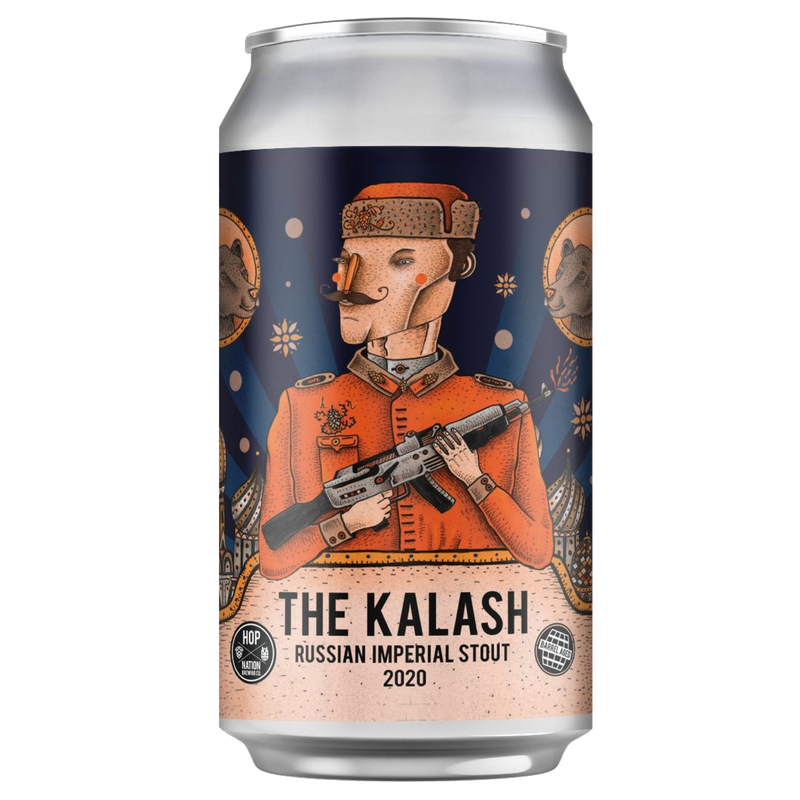 Hop Nation Brewing Co-The Kalash 2020 Russian Imperial Stout 375ml x 4-Pubble Alcohol Delivery
