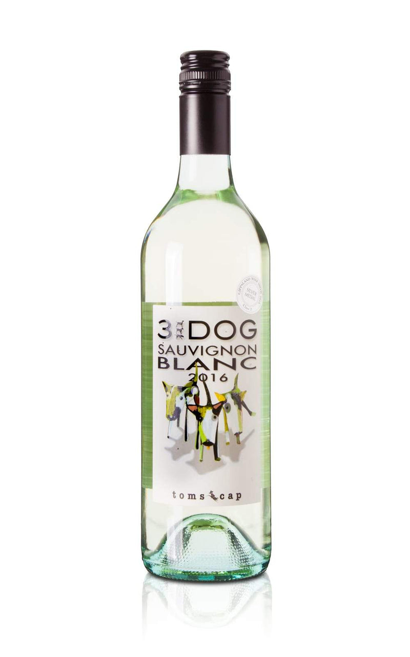 Toms Cap Vineyard Retreat-3 Dog 2017 Sauvignon Blanc-Pubble Alcohol Delivery
