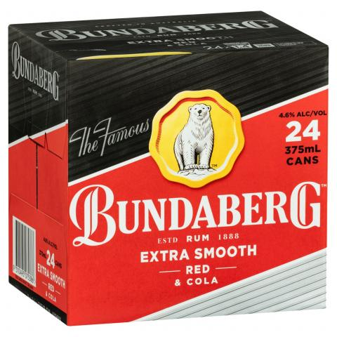 Barrel House Distribution-Bundaberg Red & Cola Cans 375ml x 24-Pubble Alcohol Delivery