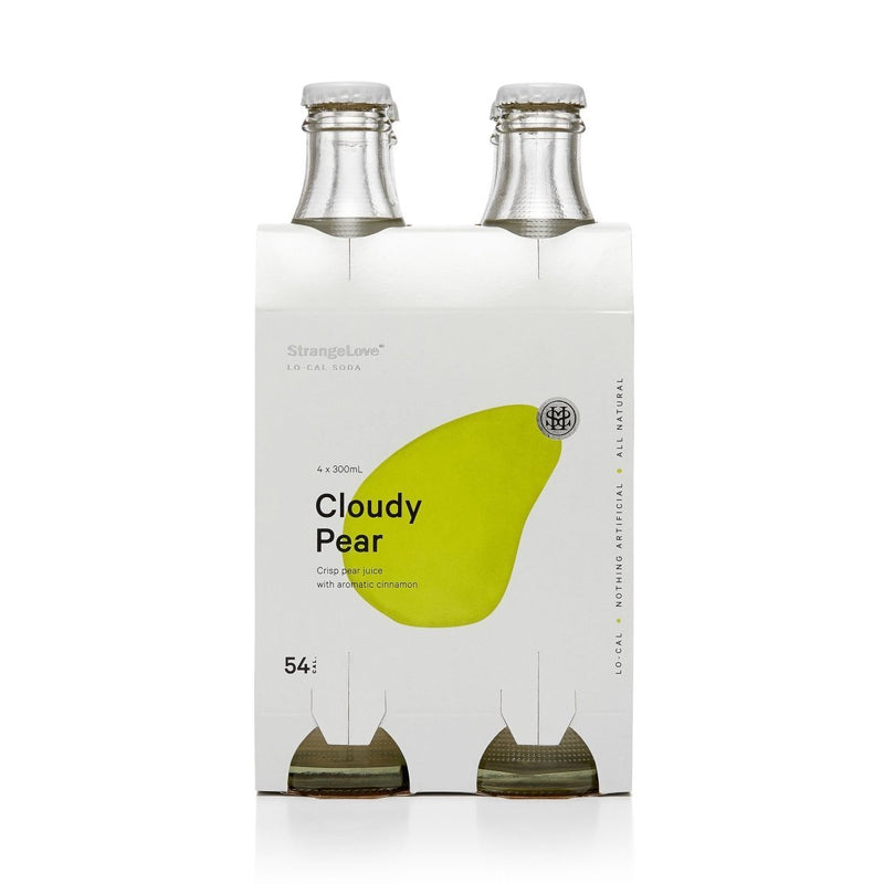 StrangeLove-Lo-Cal Cloudy Pear Soda 300ml x 4-Pubble Alcohol Delivery
