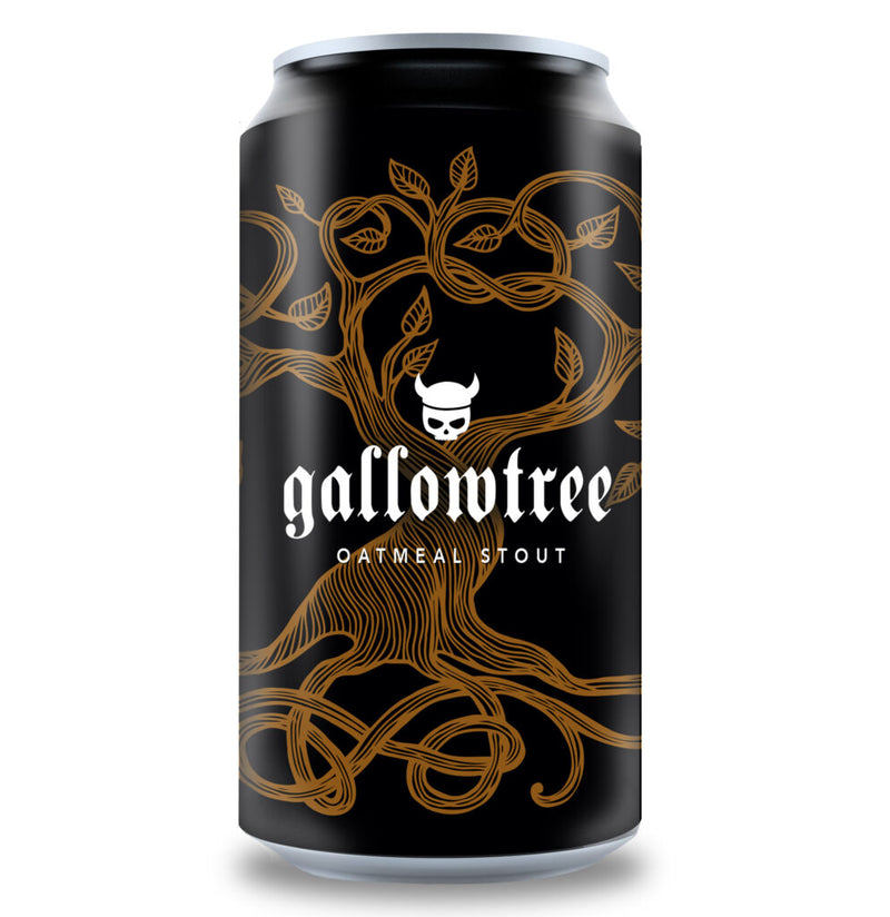Valhalla-Gallowtree Oatmeal Stout 440ml x 4 *Limited*-Pubble Alcohol Delivery
