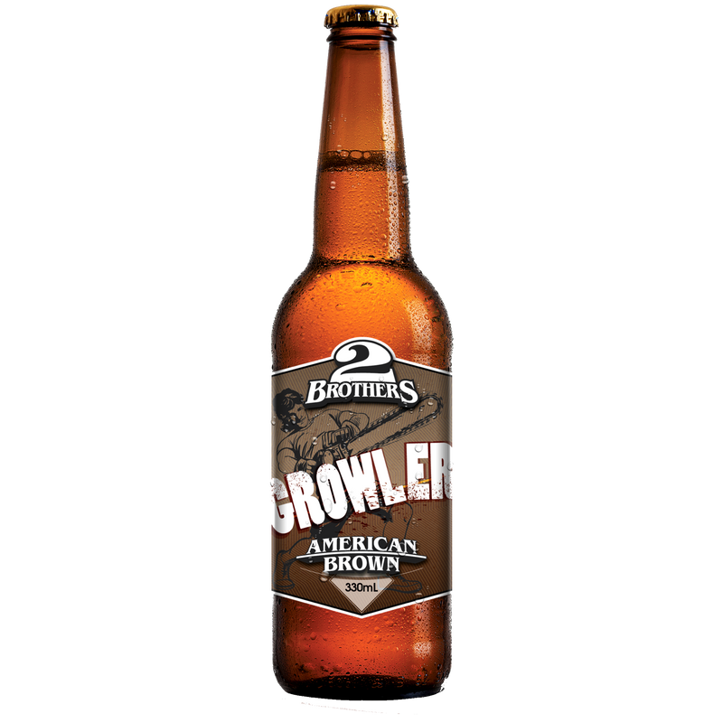 2 Brothers-Growler American Brown 330ml x 4-Pubble Alcohol Delivery