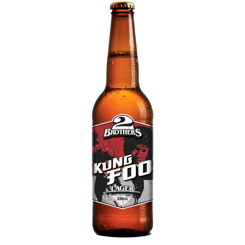 2 Brothers-Kung Foo (low gluten Rice Lager) 330ml x 4-Pubble Alcohol Delivery