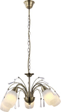 Load image into Gallery viewer, ASHA BRASS CHANDELIER - 3 OR 5 LAMP