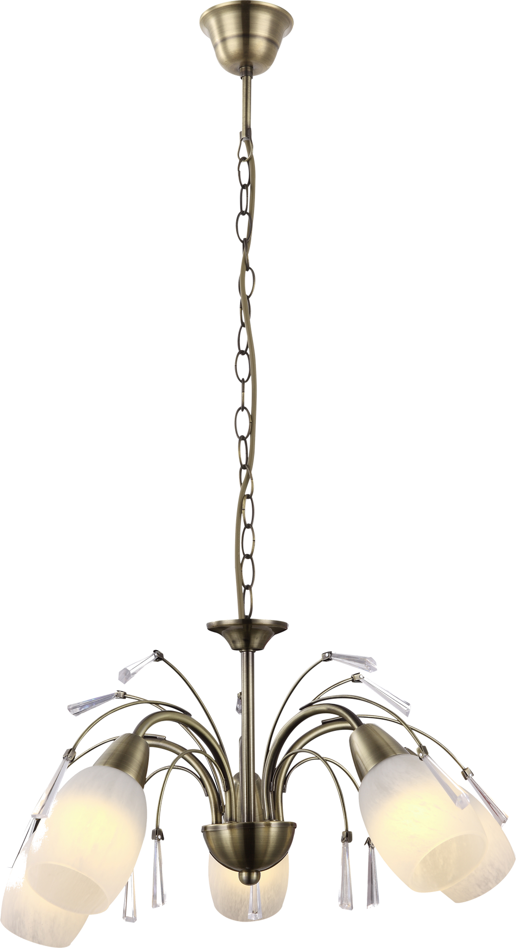 ASHA BRASS CHANDELIER - 3 OR 5 LAMP