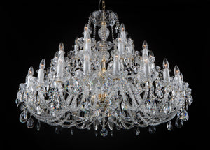 KAISERIN 107 CRYSTAL CHANDELIER - WIDE DESIGN