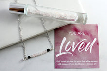 Load image into Gallery viewer, You are Loved - Rose Quartz Gemstone Roller bottle & Necklace set