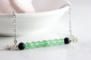 You are Blessed - Green Aventurine Gemstone Roller bottle & Necklace set