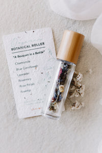 Botanical roller singles with seed card