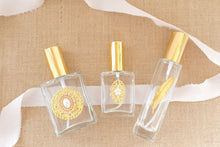 Load image into Gallery viewer, The Essence of Elegance, GOLD Trio of Perfume Bottle Spritzers