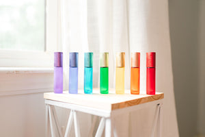 Rainbow Luxe Roller bottle set with decals and all the extras!
