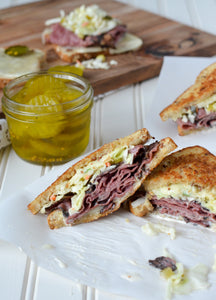 Pastrami Party · House Cured & Smoked Pastrami, Emmentaler Swiss, Good Jewish Rye, Righteous Slaw, Sauerkraut, Mustard, Russian Dressing, House Pickles (Serves 4-5)