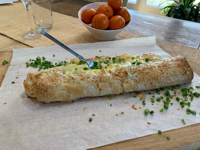 Breakfast Strudel with Spinach Mushrooms & Gruyere Cheese -