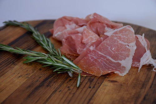 Thinly Sliced 24 month aged Prosciutto di Parma (3 oz)
