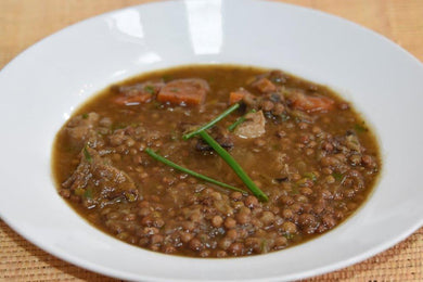 Lentil Soup with Shiitake Mushrooms & Caramelized Onions |
