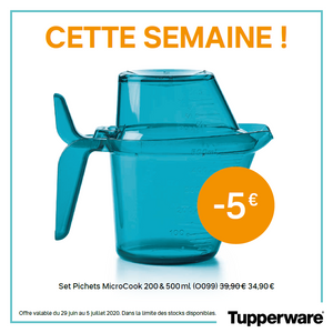 Set Pichets MicroCook 200 et 500 ml - TUPPERWARE FRANCE