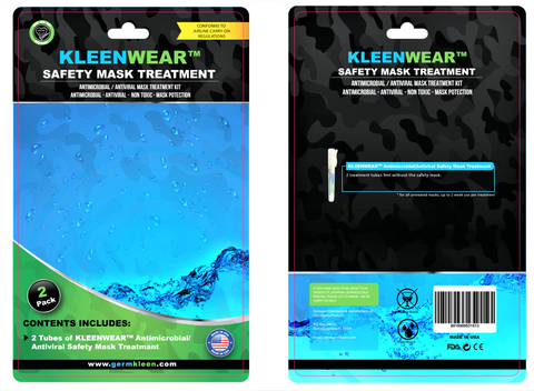 KLEENWEAR™ Antimicrobial & Antiviral Mask Treatment Kit