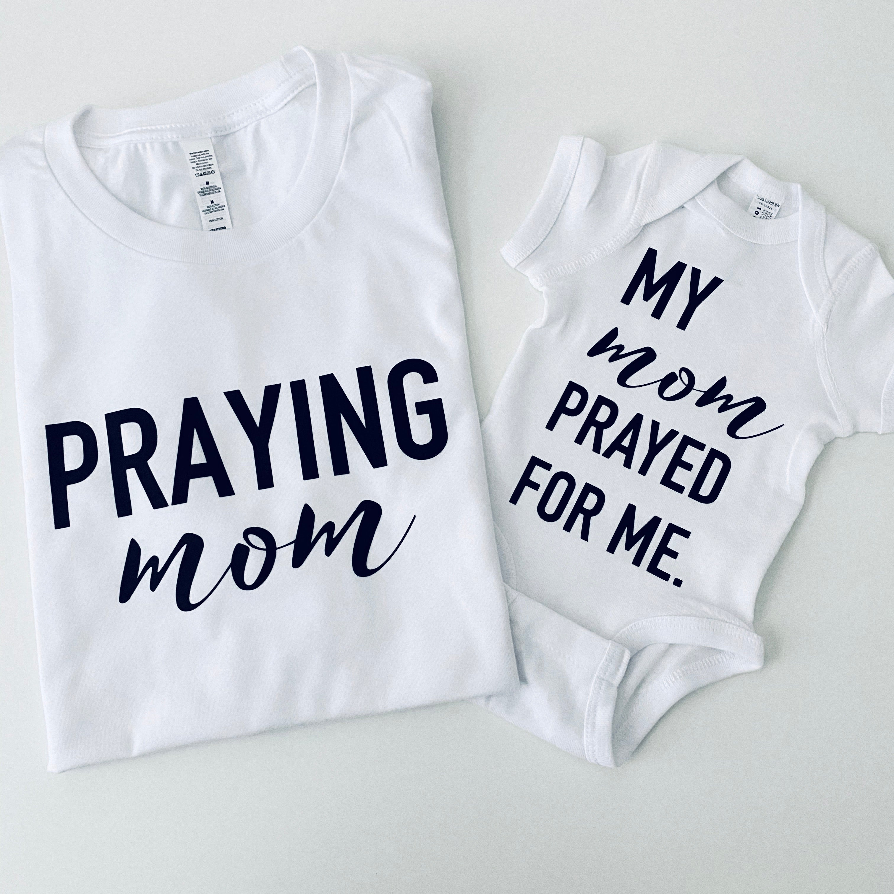 MY MOM PRAYED FOR ME BUNDLE -Black print