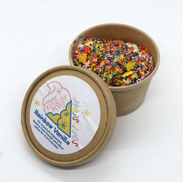 King of Pops - Rainbow Vanilla Soft Serve - 6 oz cup
