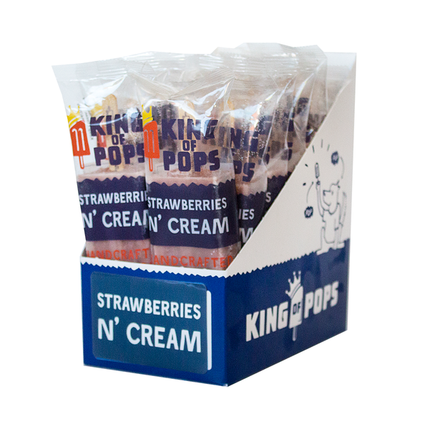 King of Pops - Strawberries n' Cream 12-pack