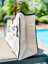 Load image into Gallery viewer, Summer Vibes Tote - Leyland Blue