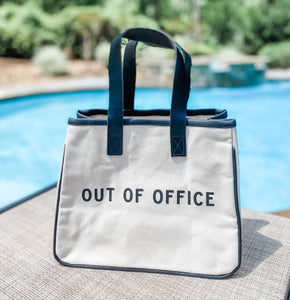 Out of Office Tote - Leyland Blue