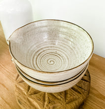 Load image into Gallery viewer, White Speckled Bowl - Leyland Blue