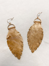 Load image into Gallery viewer, Leaf Earrings in Copper
