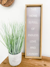 Load image into Gallery viewer, Wood Laundry Sign
