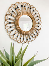 Load image into Gallery viewer, Bamboo Mirror With Black Accents