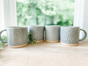 Grey Coffee Cups (Set of 2)