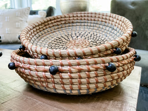 Small Beige & Black Basket
