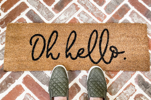 """Oh Hello"" Door Mat"