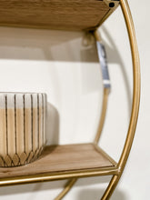 Load image into Gallery viewer, Wood & Metal Circular Shelf