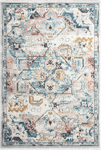 8x10 Cream Medallion Rug