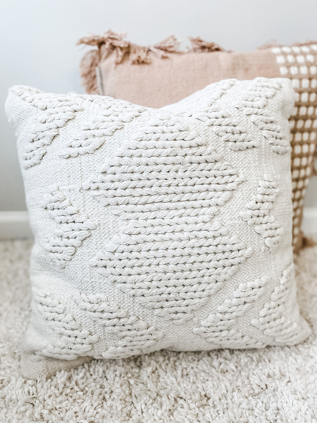 Luna White Pillow