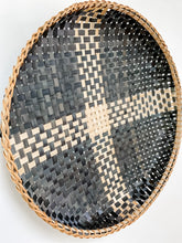Load image into Gallery viewer, Black Wicker Wall Basket