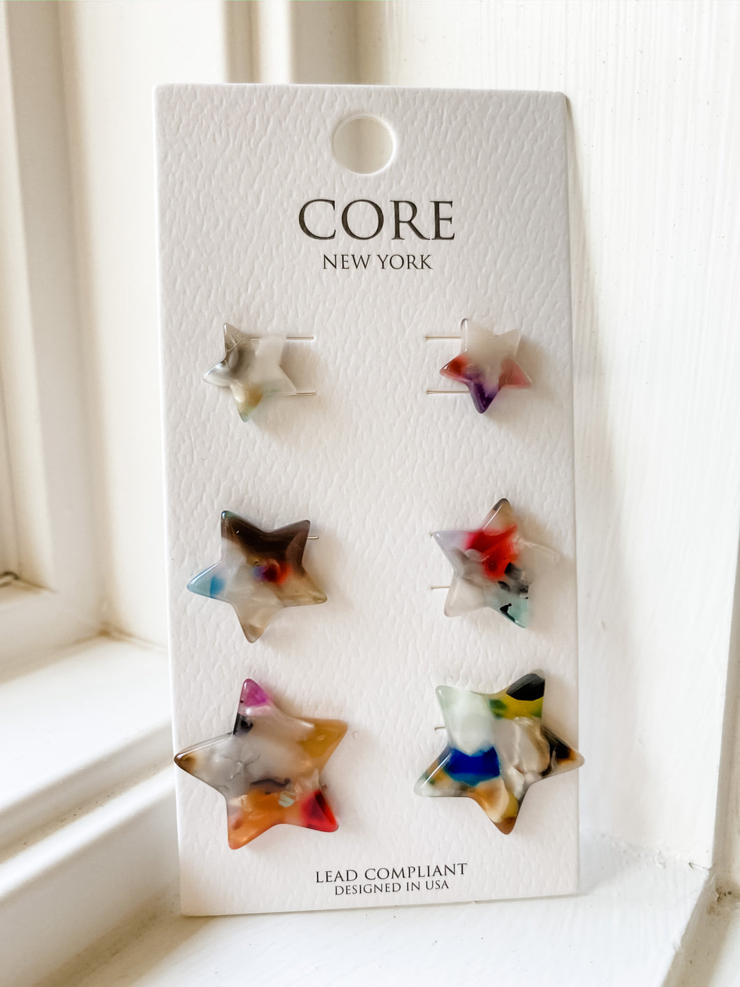 Colorful Acrylic Star Studs