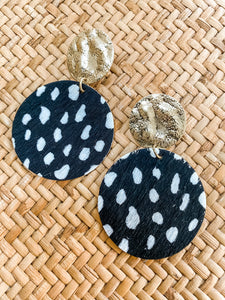 Black Cheetah Dangles