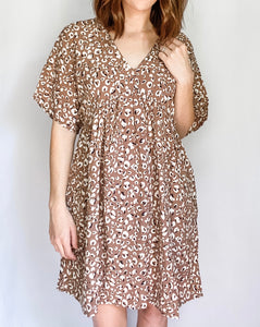 Spot on Dress in Blush