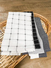 Load image into Gallery viewer, Black/Grey/White Tea Towels (Set of 3)