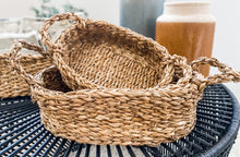 Load image into Gallery viewer, Oval Seagrass Baskets with Handles