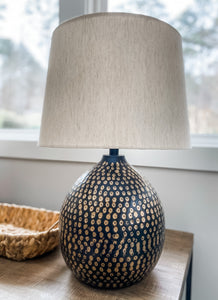 Penny Black Table Lamp