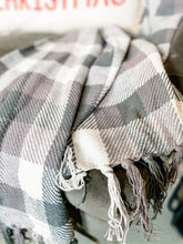 Load image into Gallery viewer, Grey Plaid Throw