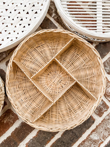 Divided Wicker Tray