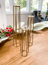 Load image into Gallery viewer, Gold Caged Vases (Set of 3)