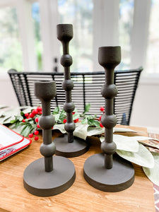 Chester Candle Sticks in Black