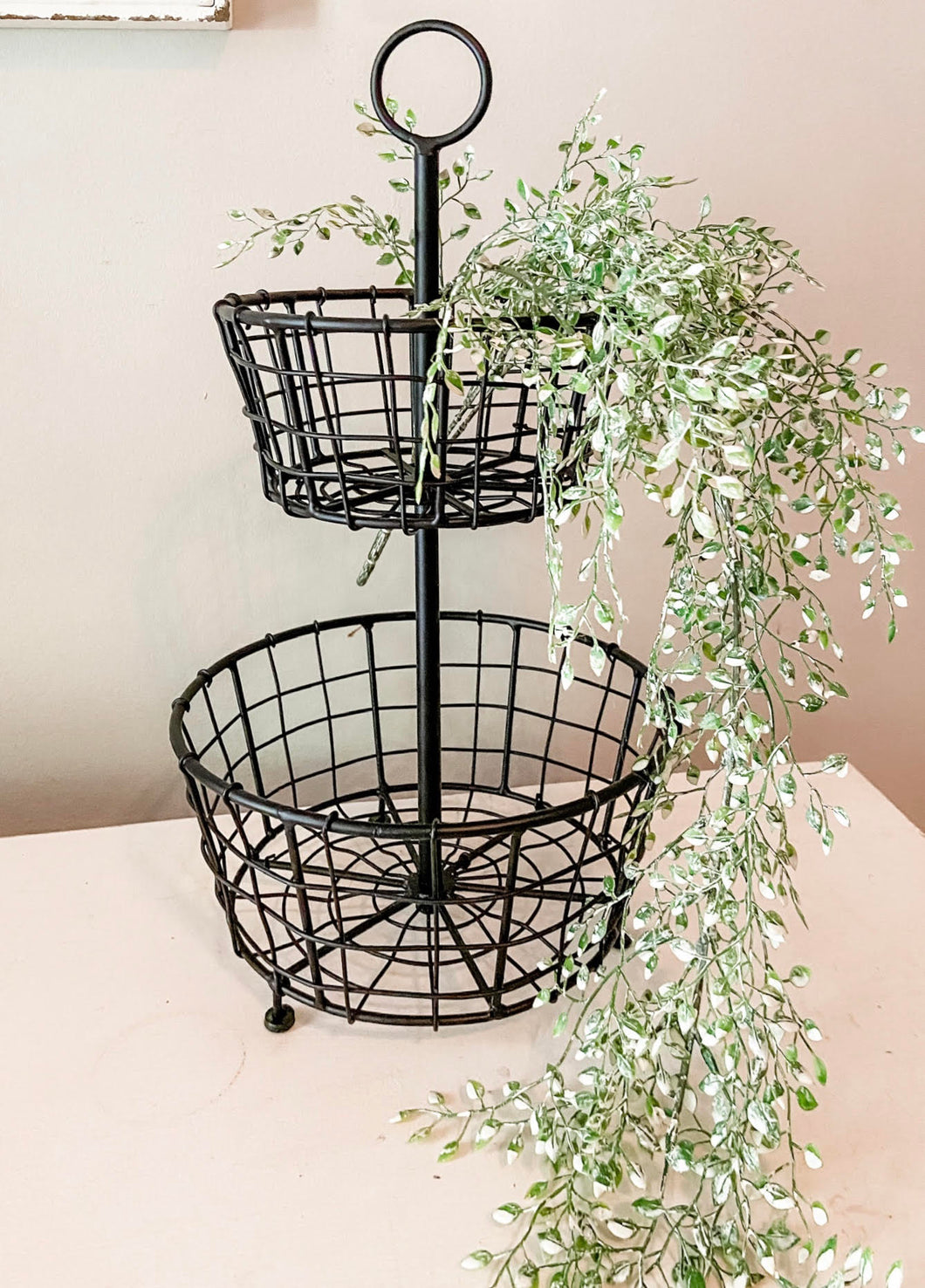 Small two Tier Black Baskets