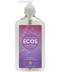 Ecos Hypoallergenic Lavender Hand Soap-Antioxidants and Essential oils